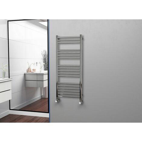 Eastgate 304 Straight Polished Stainless Steel Heated Towel Rail 1200mm x 500mm - Electric Only Thermostatic - 2059BTU's