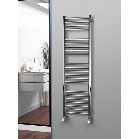 Eastgate 304 Straight Polished Stainless Steel Heated Towel Rail 1400mm x 400mm - Electric Only - Standard - 2086BTU's