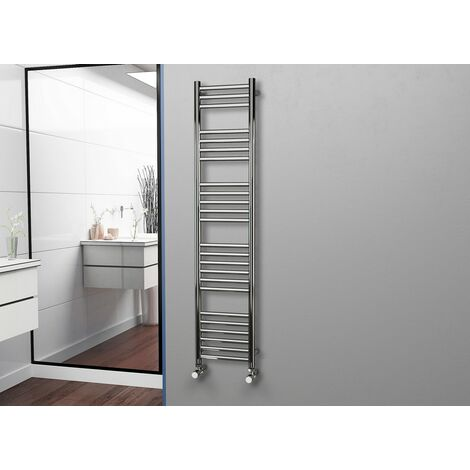 Eastgate 304 Straight Polished Stainless Steel Heated Towel Rail 1600mm x 350mm - Electric Only - Standard - 2097BTU's