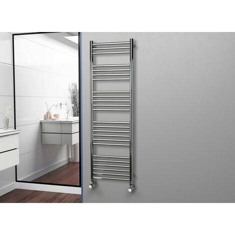 Eastgate 304 Straight Polished Stainless Steel Heated Towel Rail 1600mm x 500mm - Electric Only - Standard - 2747BTU's