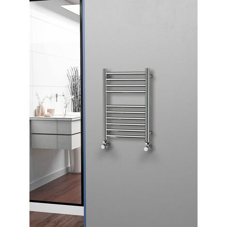 Eastgate 304 Straight Polished Stainless Steel Heated Towel Rail 600mm x 400mm - Electric Only - Standard - 929BTU's