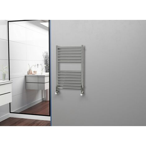 Eastgate 304 Straight Polished Stainless Steel Heated Towel Rail 800mm x 500mm - Electric Only - Standard - 1452BTU's