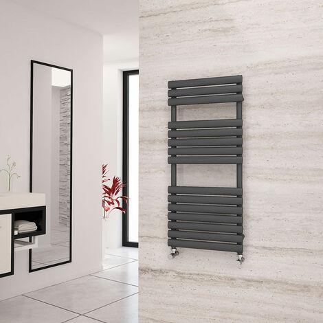 Eastgate Eclipse Anthracite Designer Towel Rail 1120mm x 500mm - Dual Fuel - Thermostatic