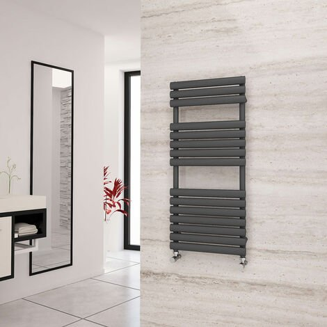 Eastgate Eclipse Anthracite Designer Towel Rail 1120mm x 500mm - Electric Only - Thermostatic
