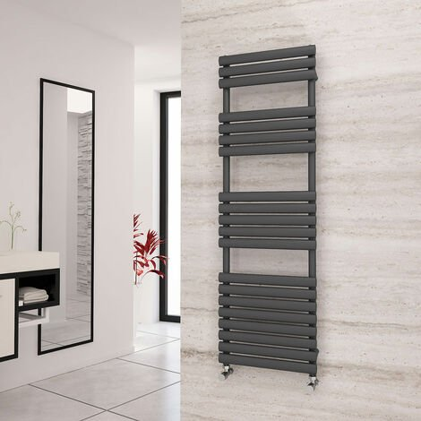 Eastgate Eclipse Anthracite Designer Towel Rail 1595mm x 500mm - Central Heating