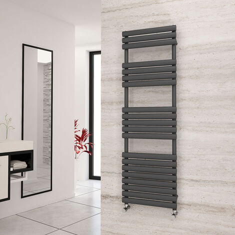 Eastgate Eclipse Anthracite Designer Towel Rail 1595mm x 500mm - Electric Only - Thermostatic