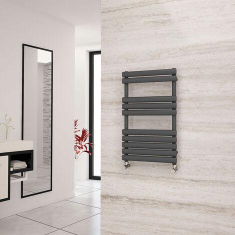 Eastgate Eclipse Anthracite Designer Towel Rail 825mm x 500mm - Dual Fuel - Thermostatic