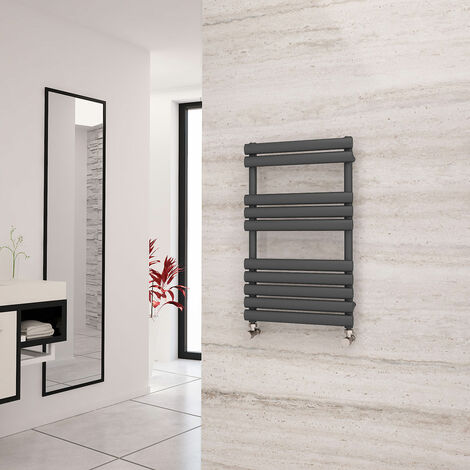 Eastgate Eclipse Anthracite Designer Towel Rail 825mm x 500mm - Electric Only - Thermostatic