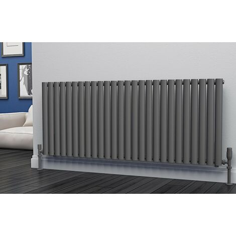 Eastgate Eclipse Steel Anthracite Horizontal Designer Radiator 600mm x 1508mm Single Panel - Electric Only -Thermostatic