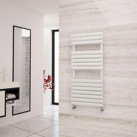 Eastgate Eclipse White Designer Towel Rail 1120mm x 500mm - Central Heating