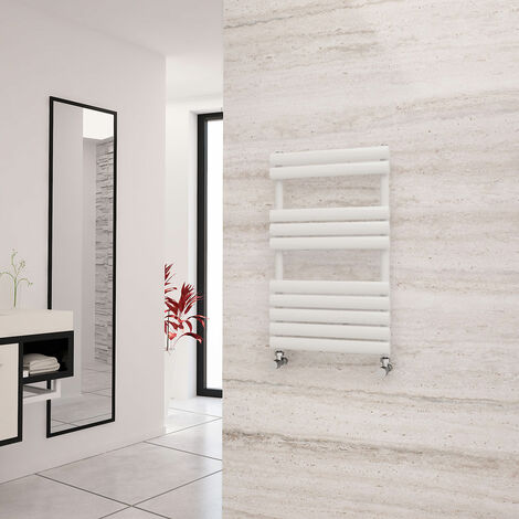 Eastgate Eclipse White Designer Towel Rail 825mm x 500mm - Central Heating