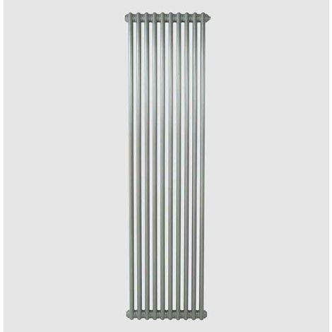 Eastgate Lazarus Steel Grey Aluminium Vertical 2 Column Radiator 1800mm x 490mm Central Heating