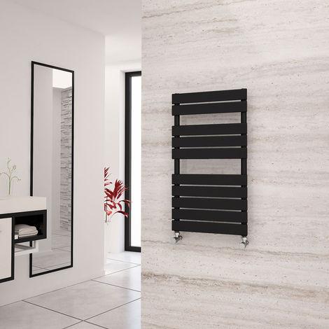 Eastgate Liso Black Flat Tube Designer Towel Rail 912mm x 500mm - Electric Only - Standard