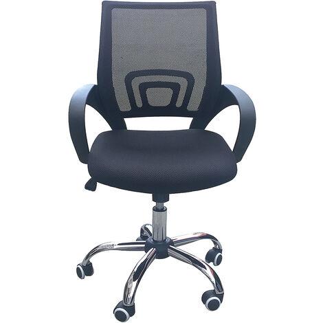 Eastner Mesh Office Chair Black