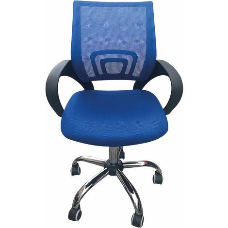 Eastner Mesh Office Chair Blue
