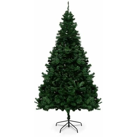 """main image of """"Easy Assembly Traditional Indoor Artificial Green Christmas Tree - 7FT"""""""