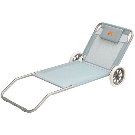 Easy Camp Chaise longue de plage Pier Bleu 62 x 150 x 22 cm 420044