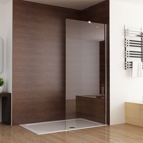 Easy Clean Glass 6mm Screen Panel Frameless Walk in Shower Enclosure Wetroom - No Tray