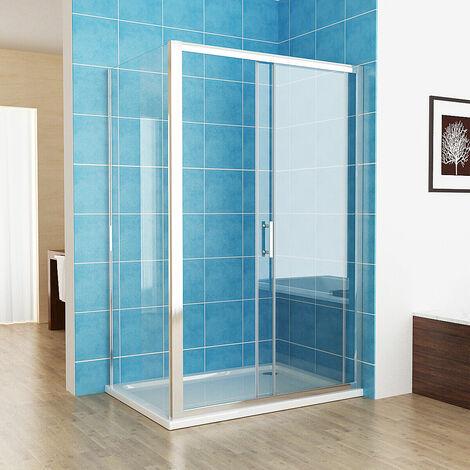 Easy Clean Nano Glass Screen Shower Sliding Shower Door Bathroom Enclosure Cubicle