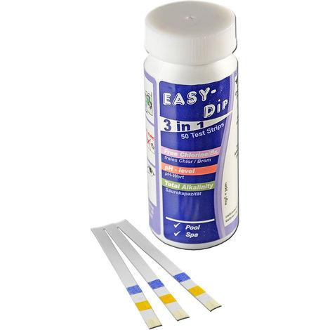 EASY DIP 50 Teststreifen Chlor, pH + Alk.