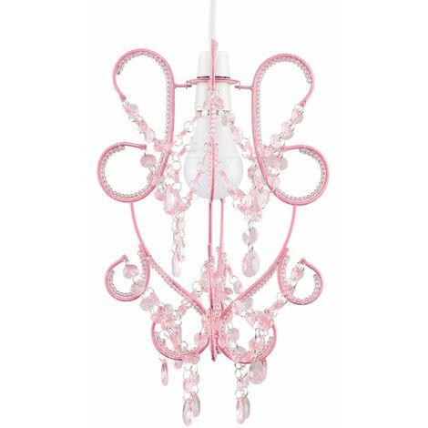 Easy Fit 38Cm Beaded Ceiling Pendant Light Shade Chandelier Lounge Lamp
