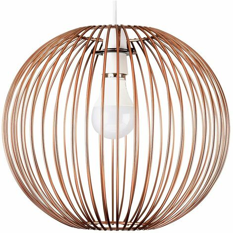 Easy Fit Ceiling Light Pendant Shade Copper Wire Ball Basket Designs - Copper