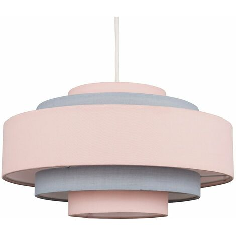 Easy Fit Ceiling Light Shade 5 Tier - No Bulb - Pink