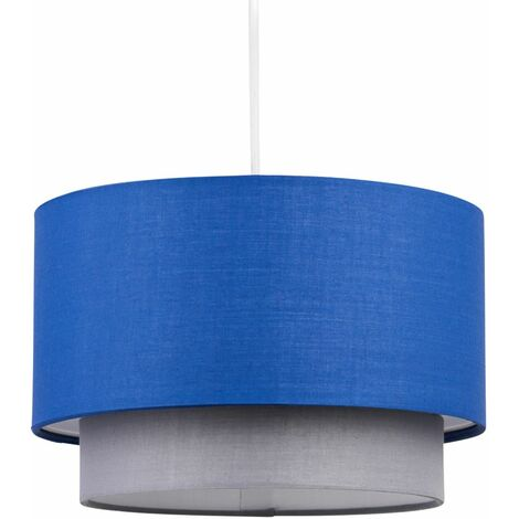 Easy Fit Ceiling Light Shade Pendants 2 Tier Design Cotton Fabric Light Shades
