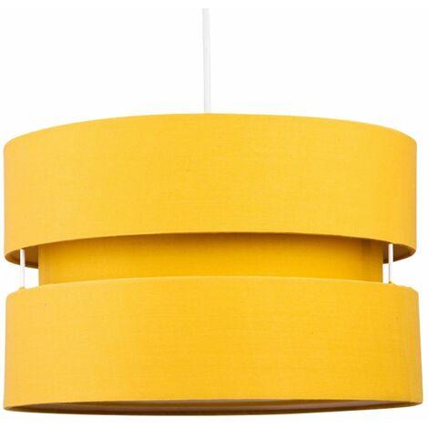Easy Fit Ceiling Pendant Light Shade 30cm Fabric Drum Modern Lightshades