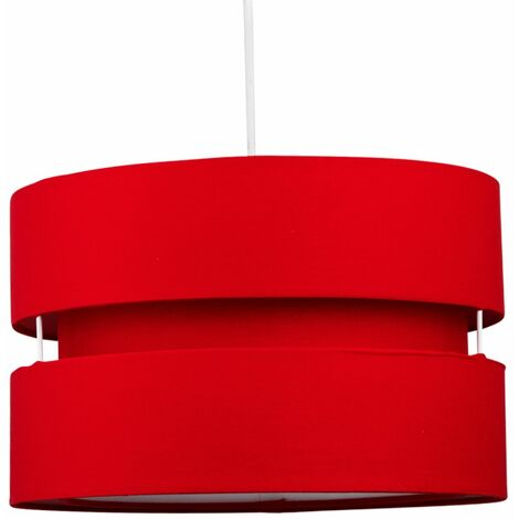 Easy Fit Ceiling Pendant Light Shade 30cm Fabric Drum Modern Lightshades