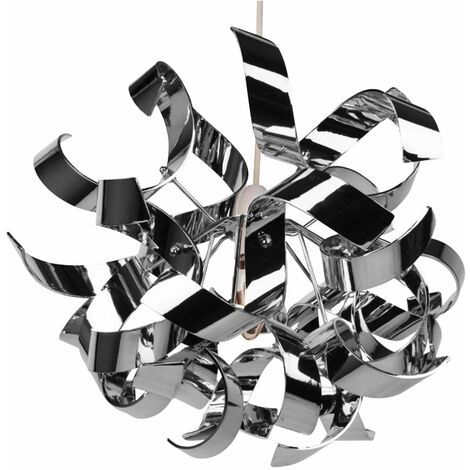 Easy Fit Chrome Finish Swirl Ceiling Shade