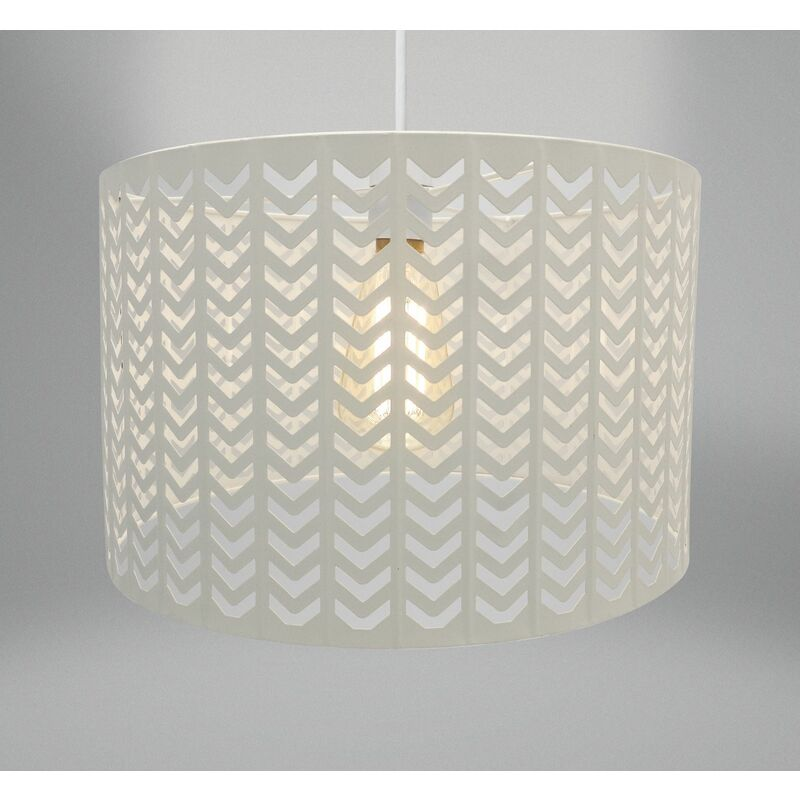 Image of Country Club Chevron Light Fitting - Oatmeal Natural (30 x 19cm) - BEAMFEATURE