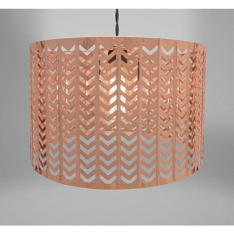Image of Chevron Light Fitting - Copper (32 x 19cm)