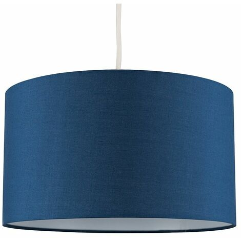 Easy Fit Pendant Light Shade 35cm Fabric Lampshade Table Lamp Ceiling - Beige & Gold - Cream