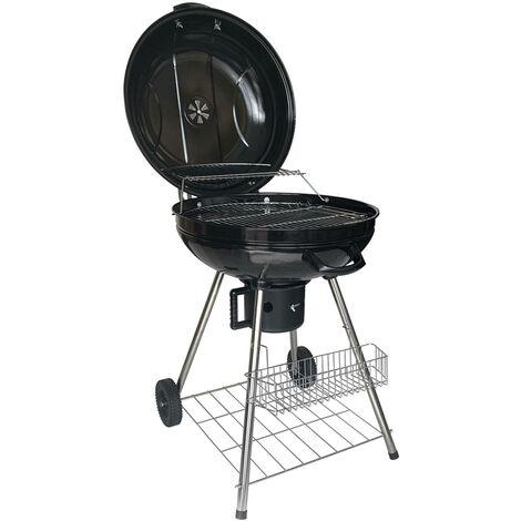 EASY GRILL - Barbecue Boule au Charbon de Bois - noir