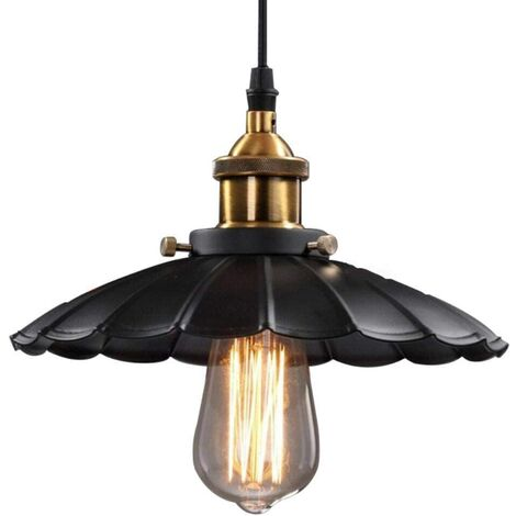 Easy Installation Pendant Light Industrial Pendant Lamp Vintage Wrought Iron Black Ceiling Light Loft Retro Hanging Light Creative Chandelier
