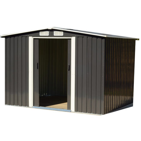Easy Store Metal Garden Shed 6x8 foot Grey