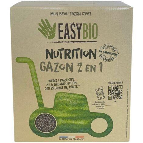 EASYBIO Engrais gazon 2en1 d'origine naturelle, 4kg