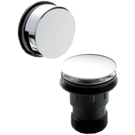 Easyclean Chrome Push Button Bath Waste & Overflow