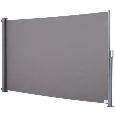 EASYCOMFORT Tenda da Sole Laterale e Avvolgibile Protezione Vento/Privacy 3x1.6m Grigio