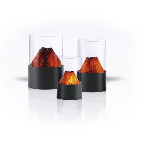 Easymaxx Lumière LED avec effet de feu ouvert - lot de 3