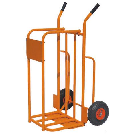 Easytools carrello pianale ferro 2 ruote trasporto legna portata 200kg et53063