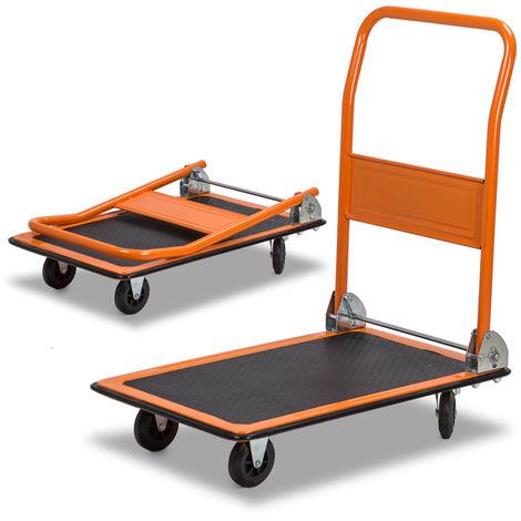 Easytools carrello portapacchi a piattaforma richiudibile con 4 ruote 200kg ET52954