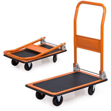 Easytools EasyTools carrello portapacchi con piattaforma richiudibile a 4 ruote 150Kg ET52953