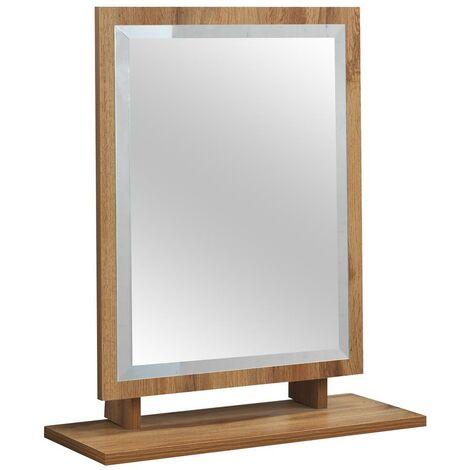 Eaton Astbury Freestanding Dressing Table Bevelled Mirror Oak Effect