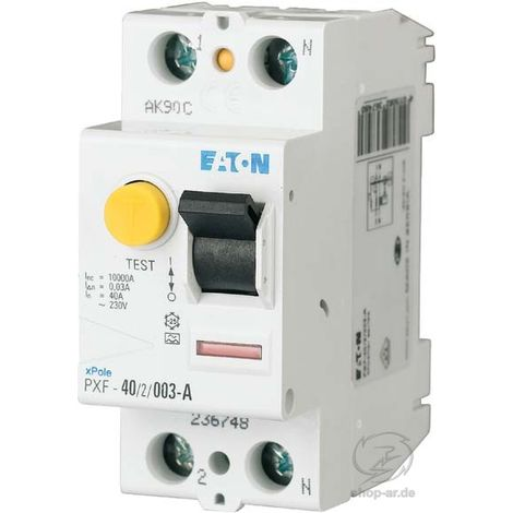 Eaton FI-Schutzschalter 40A 2p, 30mA PXF-40/2/003-A