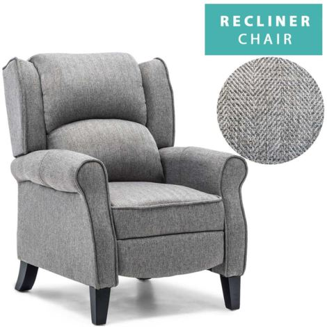 """main image of """"EATON HERRINGBONE RECLINER CHAIR - different colors available"""""""