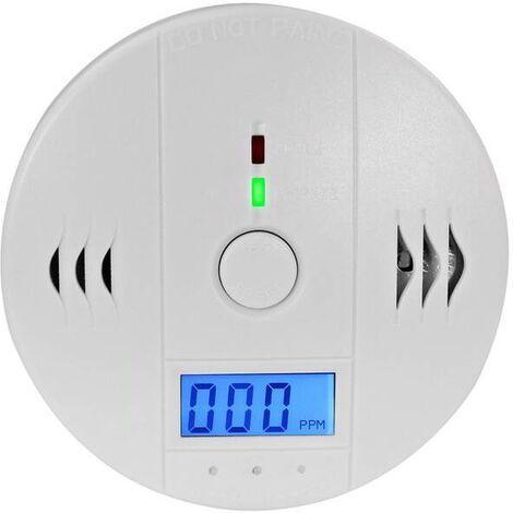 Eaxus Détecteur de monoxyde de carbone DIN EN5029 testé avec alarme sonore de 85 dB