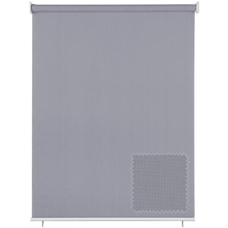 EB ESTORES BARATOS Persiana Enrollable Exterior Tecnoscreen/Bloqueo UV 70% / Microperforado (no Hace Efecto Vela). Medidas Ancho x Alto. Color: Lino. Medidas: 80cm x 120cm