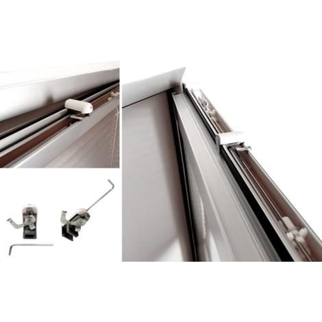 EB ESTORES BARATOS Persianas venecianas de Aluminio para Colgar sin Agujeros/Instalaci—n en hoja de Ventana. Ajustable a la medida que desee. Medidas Ancho x Alto.